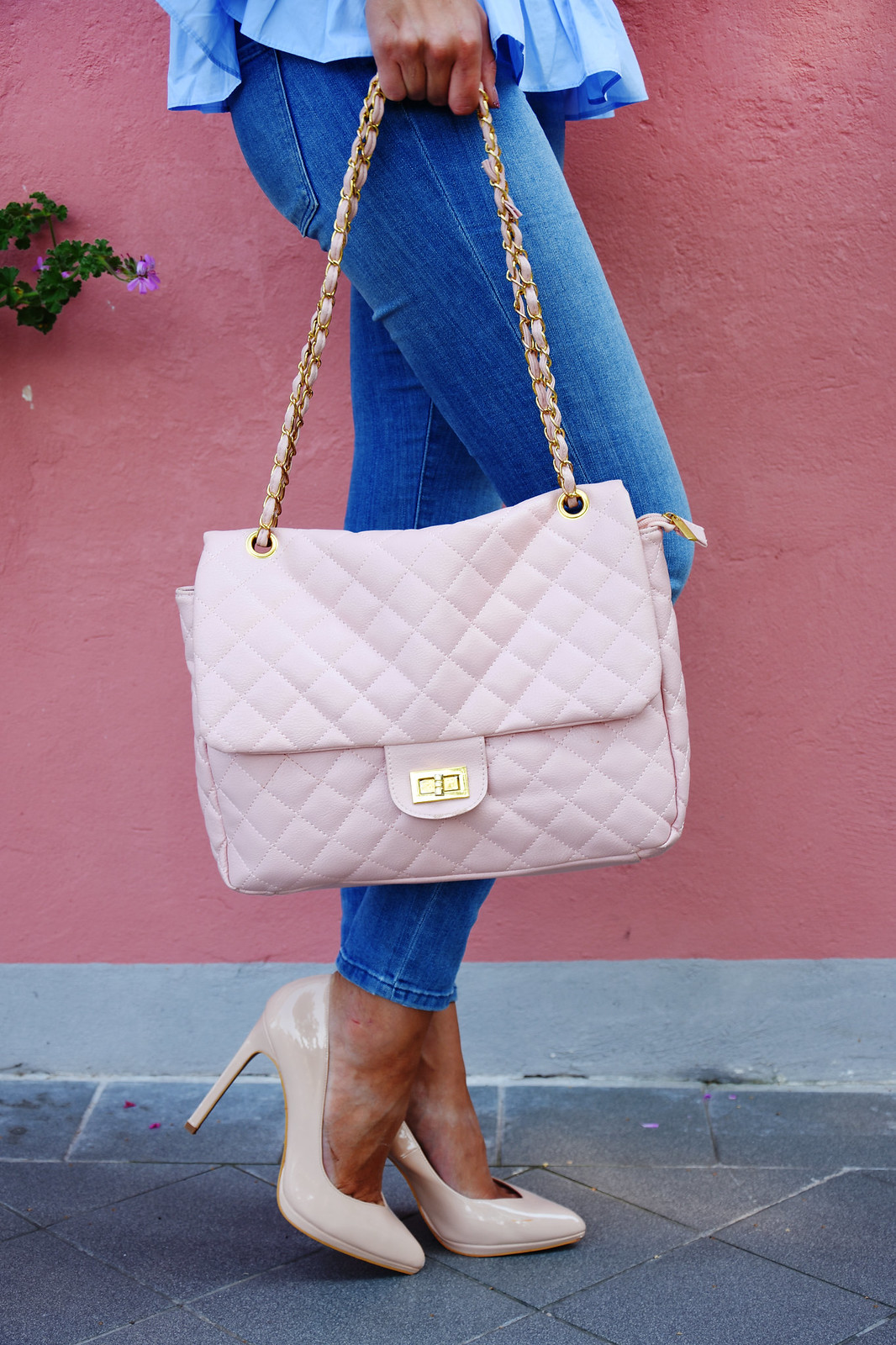 Quilted Chanel dupe bag