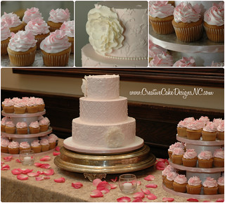 Pink Dessert Table Collage | by Christina's Dessertery