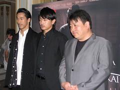 Actors Naoki Kobayashi, Sho Aoyagi and director Yoshinari Nishikori
