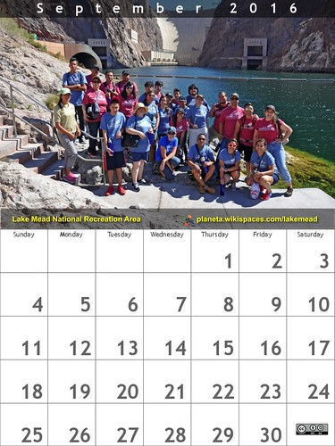 September 2016 Calendar: Lake Mead National Recreation Area @lakemeadnps @NatlParkService #FindYourPark #EncuentraTuParque