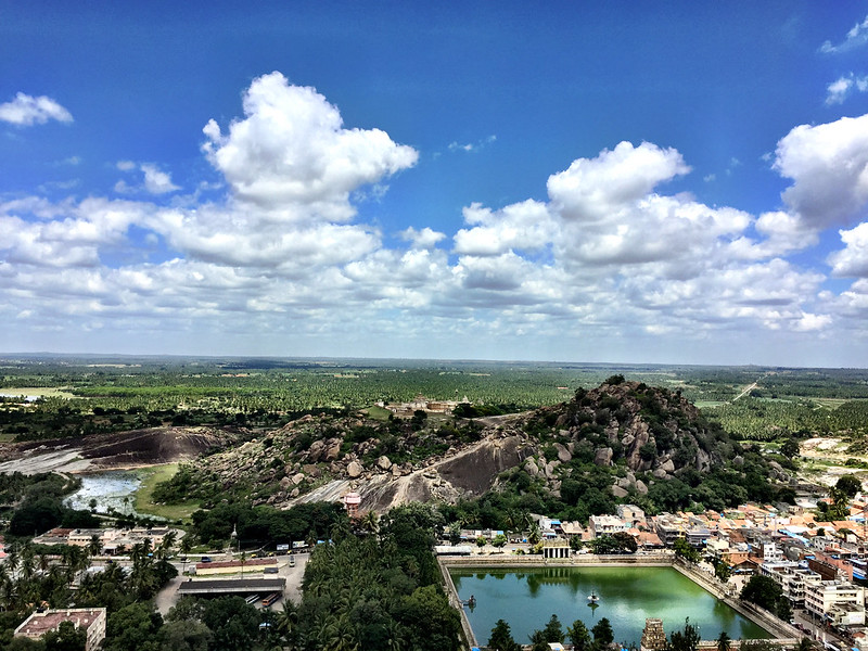 View from Shravanabelagola....