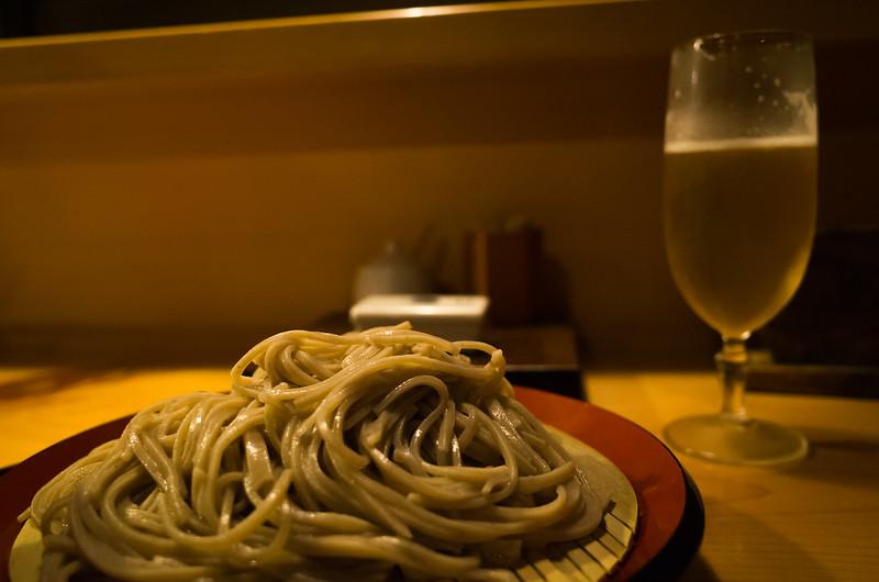 soba with yamagata beer