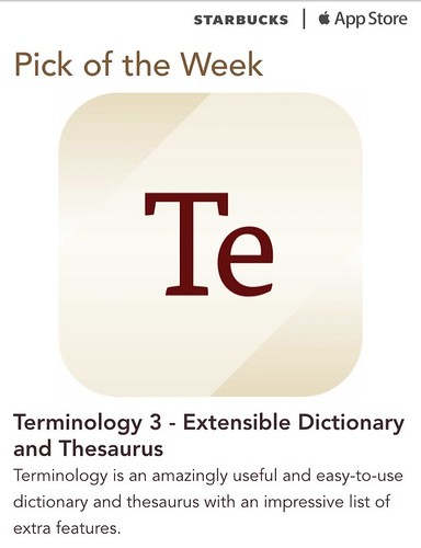 Starbucks iTunes Pick of the Week - Terminology 3