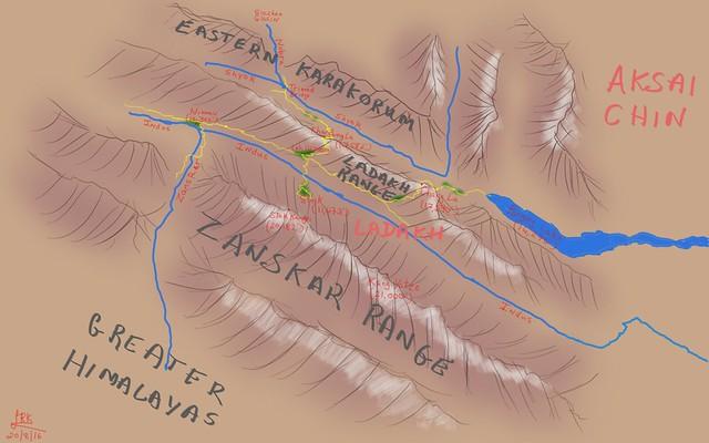 Ladakh Trip (June 2016) Map