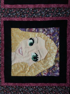 Disney Princess and Leading Ladies Quilt. Paper Pieced.  Patterns on Fandominstitches.com