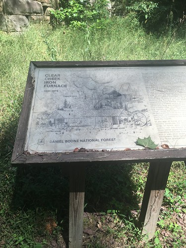 Clear Creek Iron Furnace sign