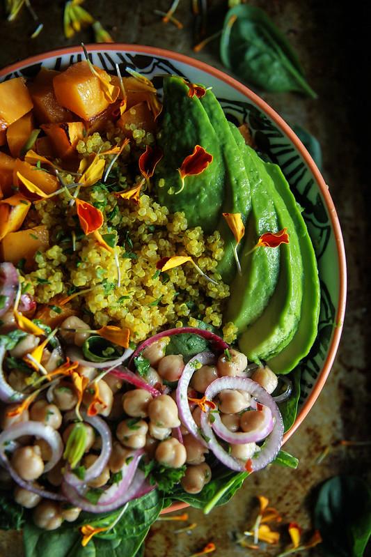 Vegan Fall Harvest Quinoa Bowl from HeatherChristo.com