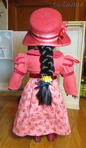 Back View of Josefina in Full Travel Ensemble (wm) | by scarlett1854