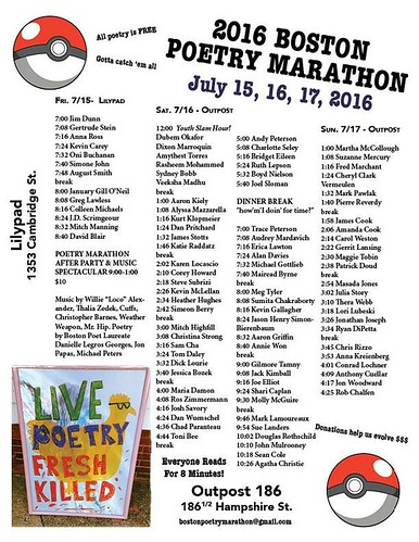 Boston Poetry Marathon 2016