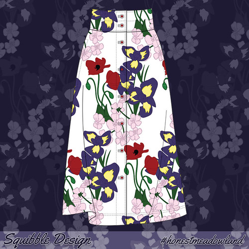 Wildflower Pattern Skirt - Test