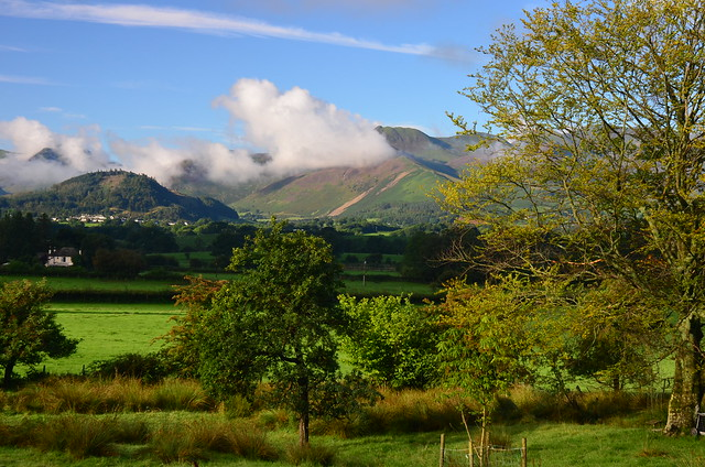033547 Clouds over Fells from Applethwaite, Lake District, Cumbria