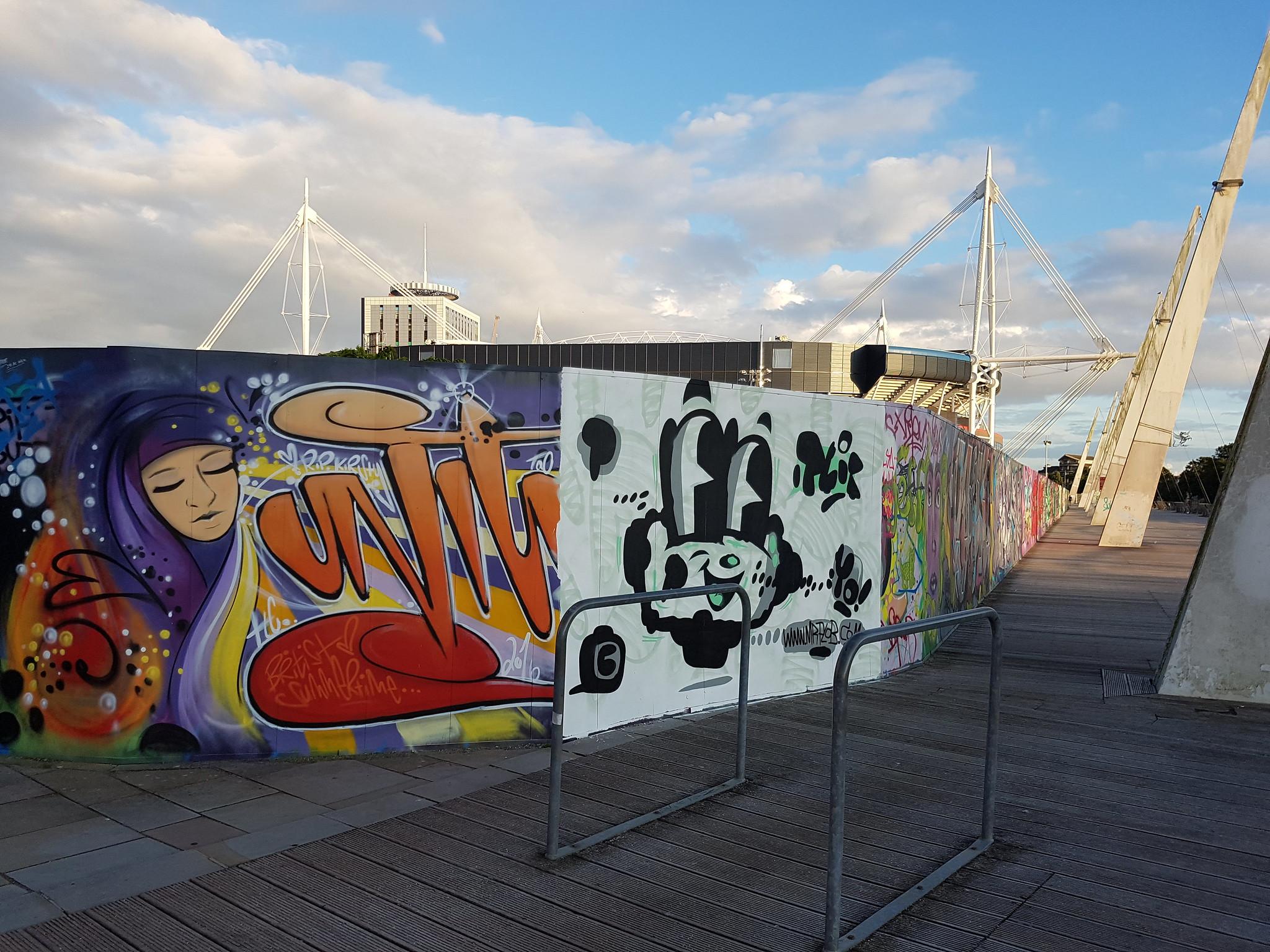 Millennium Walkway graffiti