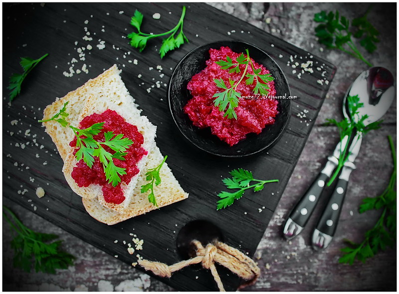 ...beetroot pate with bread
