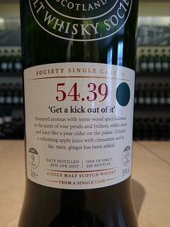 SMWS 54.39 - 'Get a kick out of it'