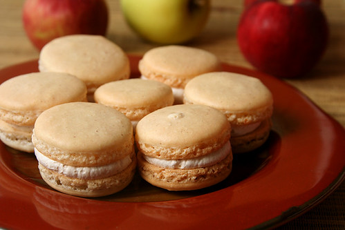 apple cinnamon macarons 4 | by crumblycookie