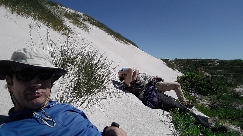 Resting on the dunes