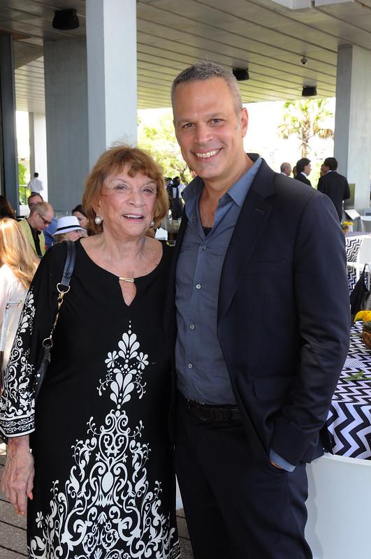 Senator Gwen Margolis and artist Harry Allen