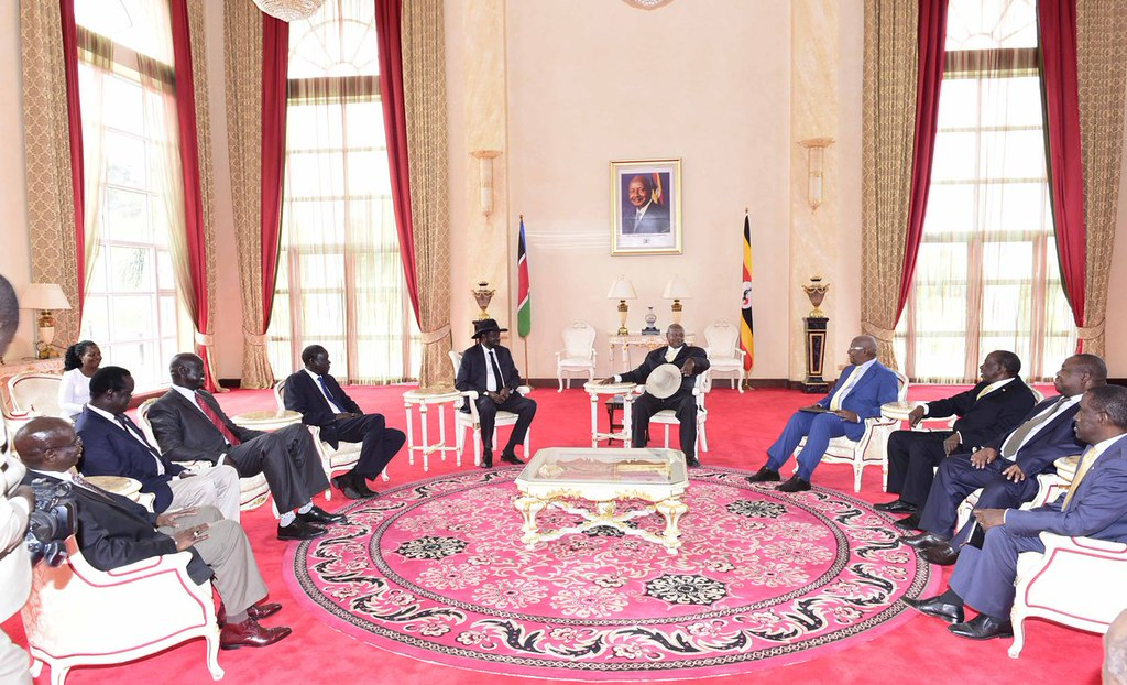 Museveni Kiir 1