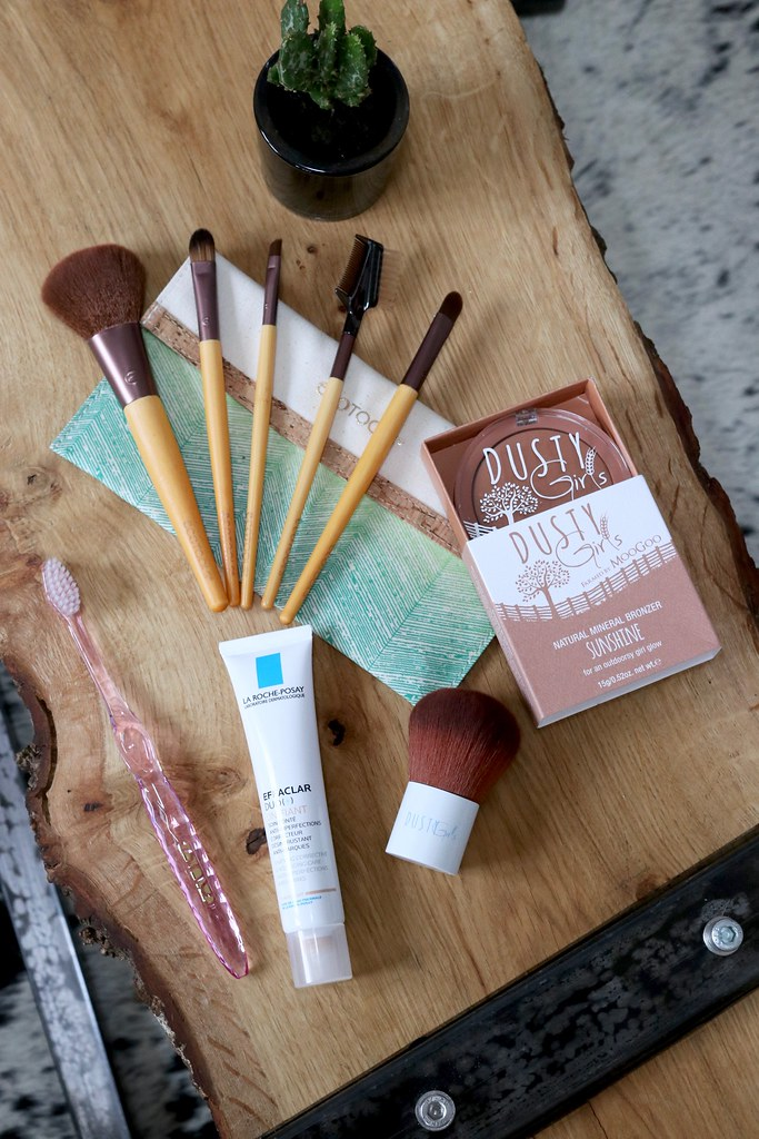 new in beauty,dusty girls bronzer review,la roche posey unifiant,eco tools brushes,katelouiseblog,nano b toothbrush, lifestyle blog,