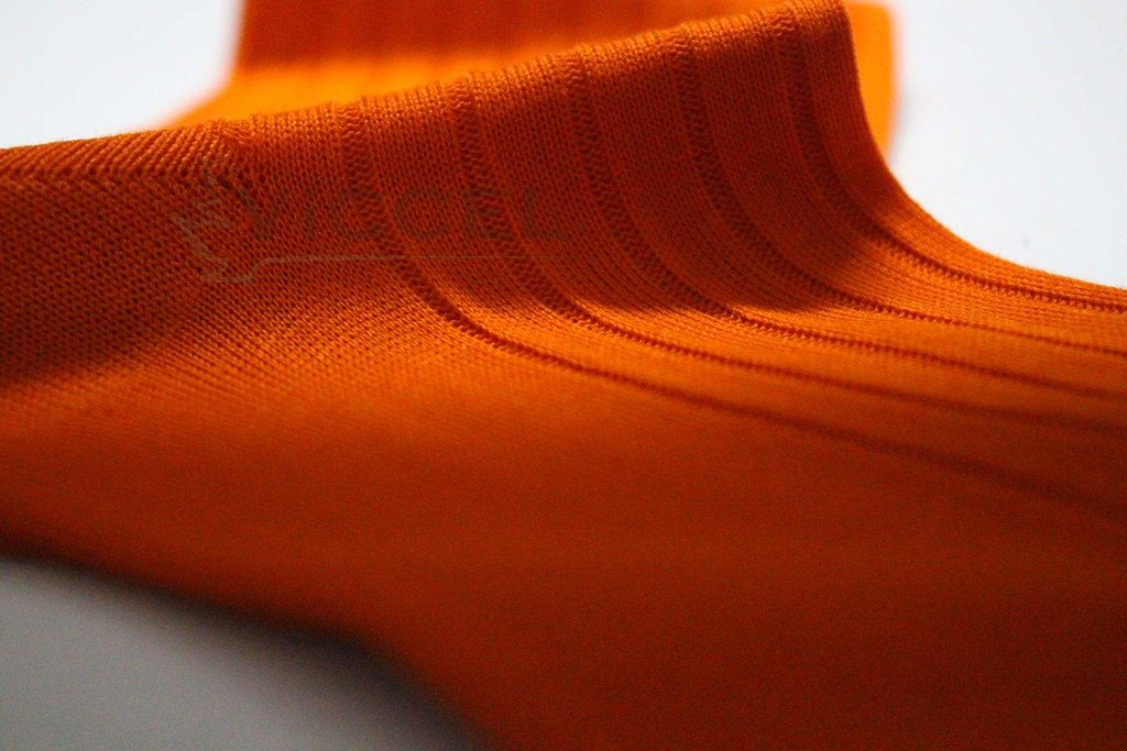 Viccel Qualitty Dress Socks, happy feet, happy people, direct sale from the producer at reasonable prices, Ribbed design Orange Colors 100% Cotton