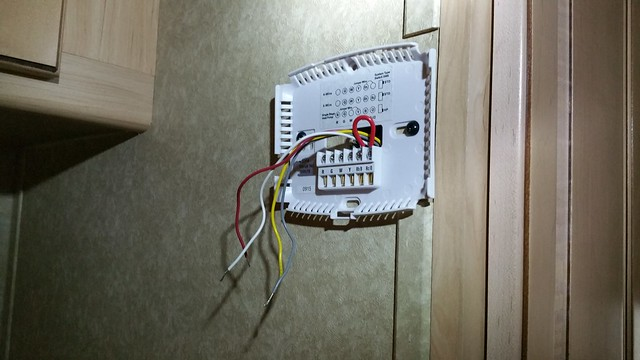 Supco 45034 digital thermostat back plate on