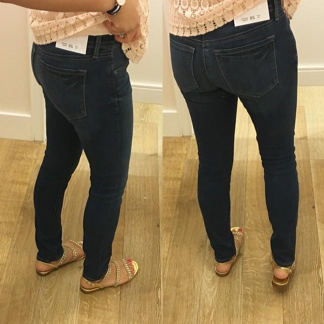 LOFT Modern Skinny Jeans in Dark Indigo Wash, size 26/2P