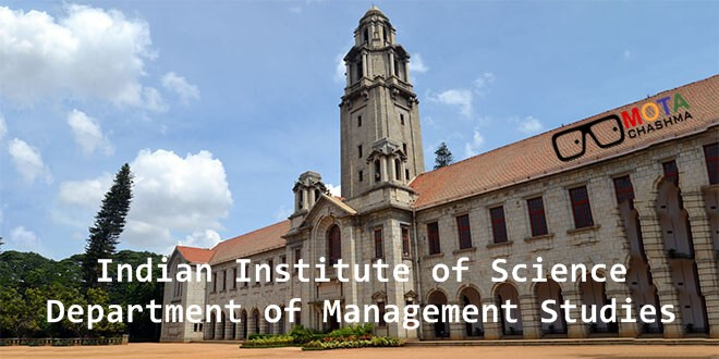 indian institute of science bangalore