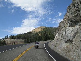 Traveling in the Sawtooth National Forest.