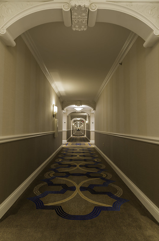 Hotel Hall Way in sin city