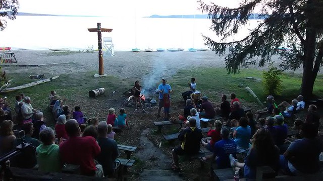 Hayo Went Ha campfire and lake
