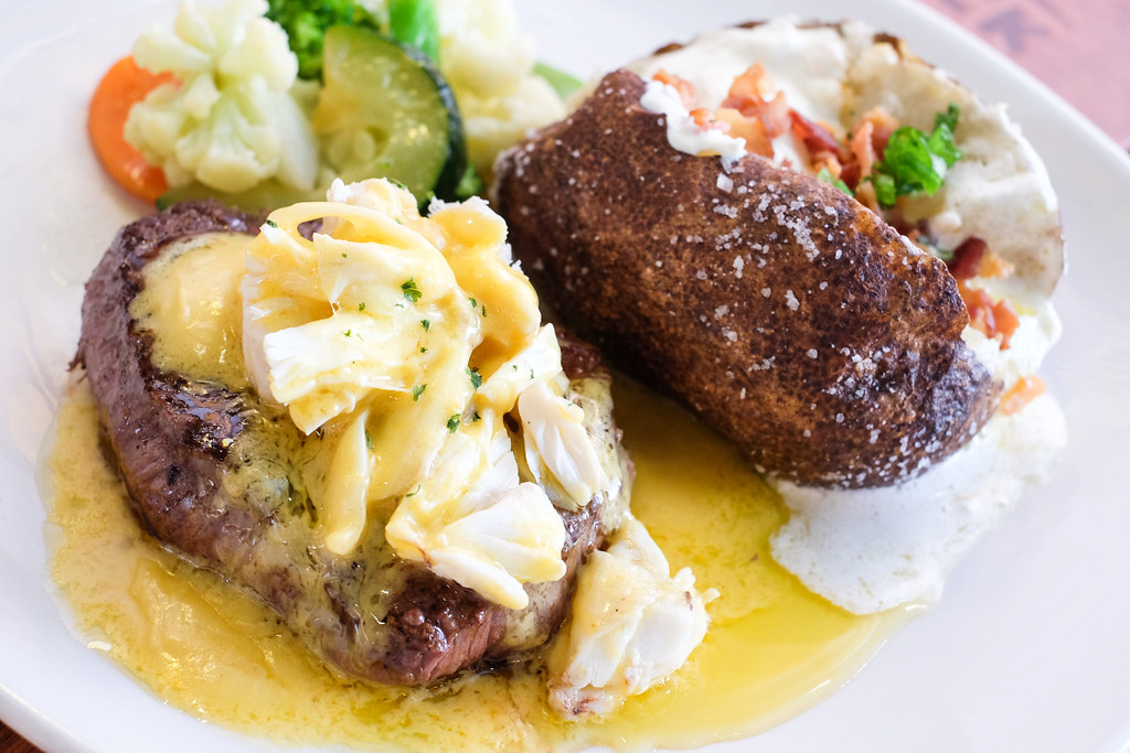 Outback Steakhouse's Crab Topped Sirloin