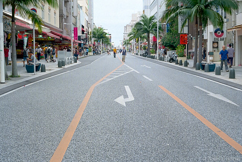 pedestrian paradise at Kokusai-dori