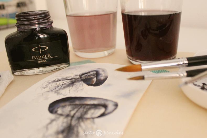 Tinta negra Parker Quink