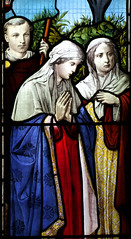 Charles Thackeray, his sister and mother at the foot of the Cross (Ward & Hughes, 1886)