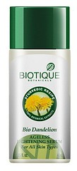 Best Face Serum for Oily skin and Dry skin in India #9 - Biotique Bio Dandelion Ageless Lightening Serum