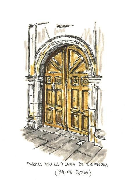 Burgos. Puerta en La Flora