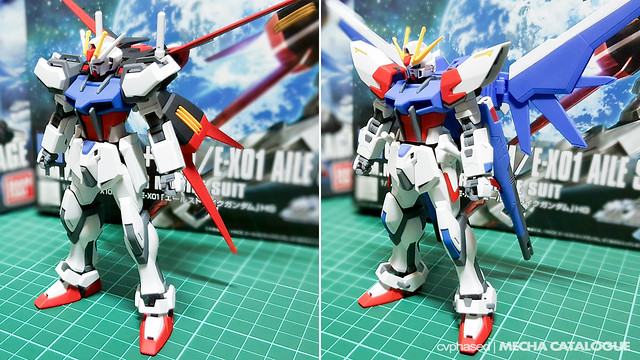 HGCE Aile Strike Gundam × HGBF Build Strike Gundam – Completed Builds