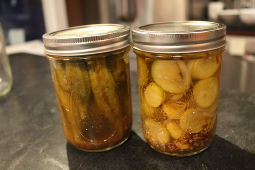 pickled okra and summer squash