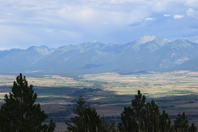 Mission Mountain Range from the top of Red Sleep Mountain National Bison Range