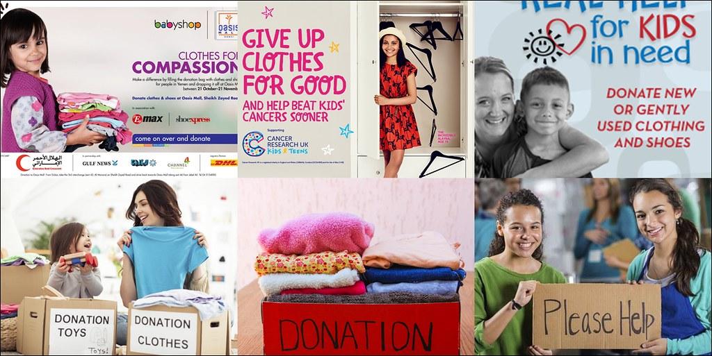 許多公益團體都會舉辦各種募捐舊衣活動。(圖片來源:網路/作者重製)