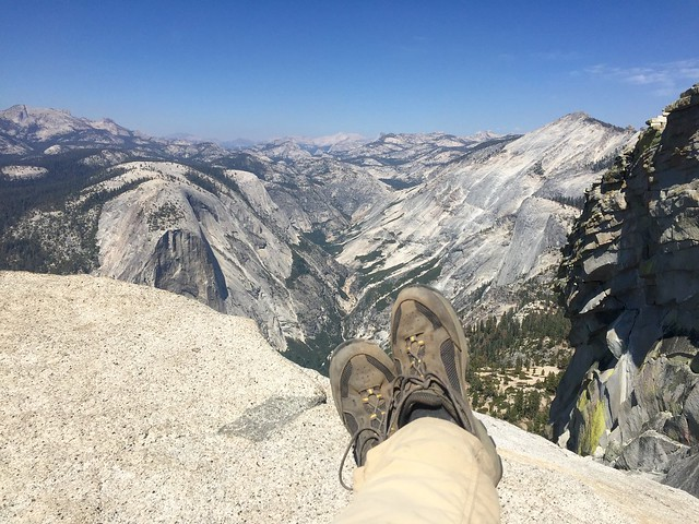 Relaxing on Half Dome