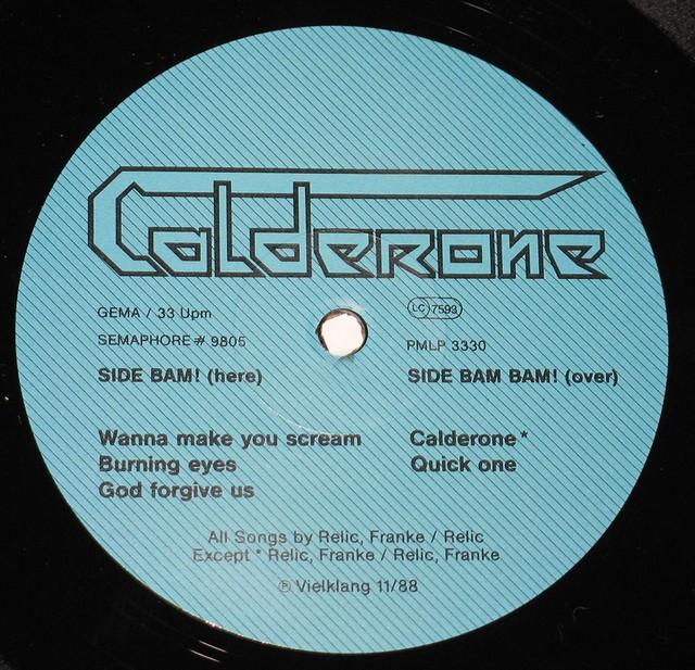 CALDERONE - Calderone S/T Self-Titled