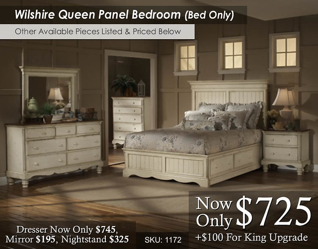 Wilshire Queen Panel Bed