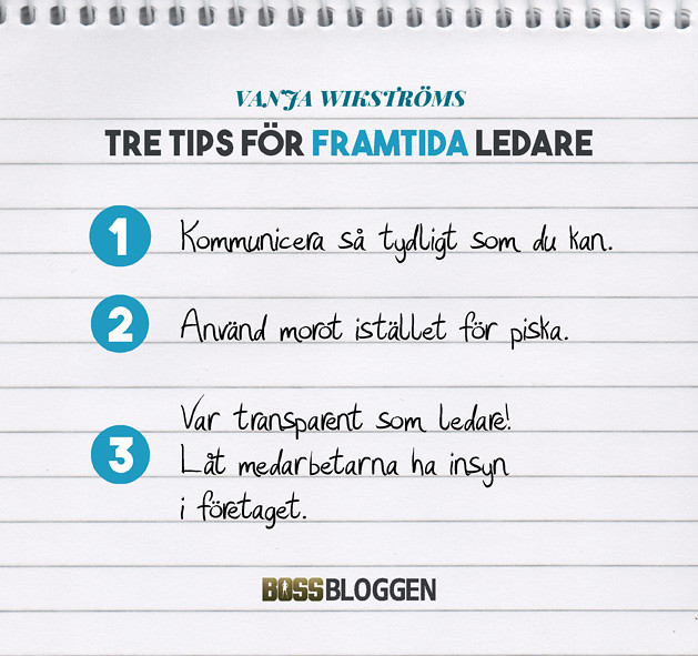 3 Tips Vanja Wikström