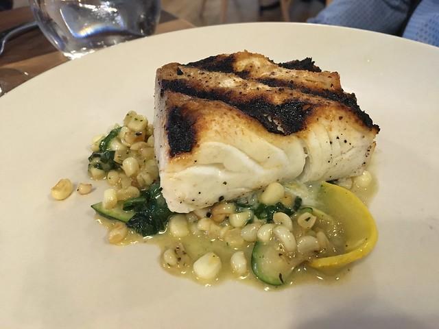Grilled Alaskan halibut - Waxman's Restaurant
