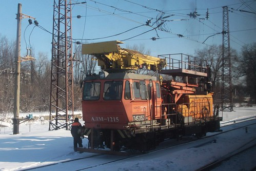 Ukrainian Railways 'АДМ-1215' class overhead line inspection vehicle