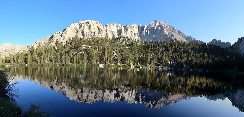 Gilbert Lake panorama with University Peak right of center