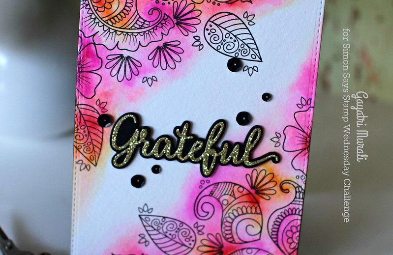 Grateful card closeup