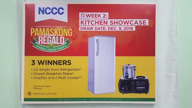 Week 2: Kitchen Showcase | NCCC's Pamaskong Regalo, Linggo-linggo Christmas Raffle Promo Year 2 - DavaoLife.com