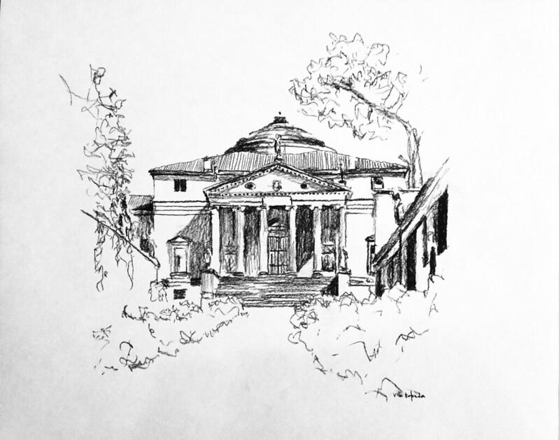 Kleeman drawings NReid-2002 (9) Villa Rotunda